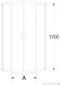 Sea Horse Stylio kabina natryskowa półokrągła 80x80x170 cm chinchila BK501KC+
