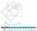 Piramida Igor Brodzik 80x80x24/35 kwadratowy z głębokim siedziskiem #BAI-80