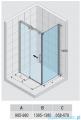 Riho Ocean kabina prostokątna prawa 140x100cm GU0204100/GU0304101