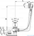Alcaplast  syfon wannowy automatyczny chrom A550K-80