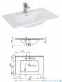 Elita Futuris szafka z umywalką 70x64x45cm anthracite 167223/145835