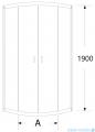 Sea Horse Stylio kabina natryskowa półokrągła 70x70x190 cm chinchila BK500C+