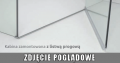 Radaway Eos KDD kabina prysznicowa 100x100 szkło przejrzyste z progiem