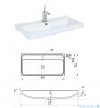 Elita Kwadro Plus szafka z umywalką 80x26x40cm biały połysk 166731/22052006N