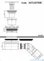 Roca Syfon brodzikowy płaski 90 mm chrom A27L027000
