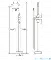 ScandiBath bateria wannowa chrom wolnostojąca z zestawem natryskowym DF-02012