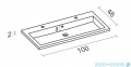 Riho Broni umywalka meblowa 100x48cm F7BR110048121