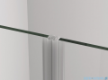 SanSwiss Cadura Black Line drzwi wahadłowe 90cm dwuczęściowe profile czarny mat CA2C0900607