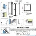 Radaway Euphoria KDJ Kabina prysznicowa 120x80 lewa szkło przejrzyste + brodzik Argos D + syfon 383812-01L/383240-01L/383051-01/4AD812-01