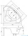 Besco Mia 120x120cm wanna narożna + obudowa + syfon #WAM-120-NS/OAM-120-NS/19975