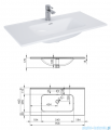 Elita Futuris szafka z umywalką 90x64x45cm anthracite 167220/145845