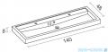 Riho Umywalka z marmuru syntetycznego 140x48 BOLOGNA F7BO114048121