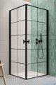 Radaway Nes Black Kdd I Factory kabina 80x80cm industrialny, loft