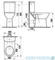 Roca Dostępna Łazienka Miska Wc o wysokości 48cm do kompaktu A342236000