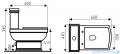 Novoterm Kerra WC Kompakt Kleopatra 11 + deska wolnoopadająca
