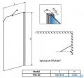 Radaway Torrenta PNJ Parawan nawannowy jednoczęściowy 80 prawy szkło przejrzyste 201101-101NR