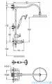 Omnires Armance system prysznicowy natynkowy termostatyczny miedź antyczna AM5244/6ORB
