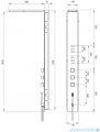 Deante Multibox panel podtynkowy chrom NOO 051T