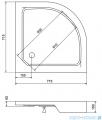 Sea Horse brodzik prysznicowy 70x70cm półokrągły BKB002