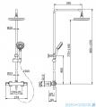 Omnires Y zestaw prysznicowy natynkowy termostatyczny chrom Y1244X/6CR
