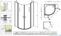 Radaway Eos II PDD kabina prysznicowa 90x90 szkło przejrzyste + brodzik Delos A + syfon 3799471-01L/3799471-01R/SDA0909-01