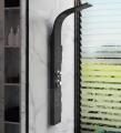 Corsan Alto panel prysznicowy z mieszaczem Czarny A-017MCZARNY