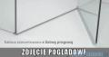 Radaway Torrenta PDD E Kabina prysznicowa 90x80 szkło grafitowe + Brodzik Siros E Compact lewy + syfon 31630-01-05N