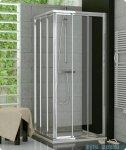 SanSwiss Top-Line TOE3 Wejście narożne 3-częściowe 100cm profil srebrny Lewe TOE3G10000107