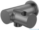 Kohlman Experience Gray uchwyt słuchawkowy z przyłączem wody szczotkowany grafit QW004AEG
