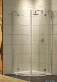 Radaway Torrenta PDD kabina półokrągła 90x90 szkło przejrzyste + brodzik Delos A + syfon 31600-01-01N