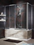 Radaway Vesta DWD+S Parawan nawannowy 160x75cm szkło fabric 203160-06/204075-06