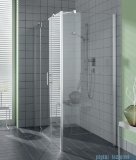 Kermi Filia Xp Ściana boczna, szkło przezroczyste KermiClean, profile srebrne 80x200cm FXUWD08020VPK