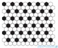 Dunin Mini Hexagon B&W Mix płytka ścienna 26x30cm
