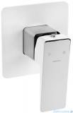 Omnires Parma bateria prysznicowa podtynkowa chrom/biały PM7445CRB