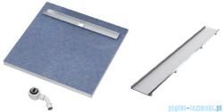 Schedpol brodzik posadzkowy podpłytkowy ruszt Plate 80x80x5cm 10.021/OLPL