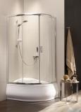 Radaway Premium Plus A Kabina półokrągła 80x80 wysokość 170cm szkło fabric 30411-01-06N