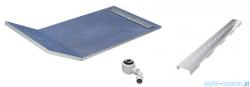 Schedpol brodzik posadzkowy podpłytkowy ruszt Stamp 130+50x80x5cm 10.033/OLSP
