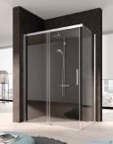 Kermi Nica Ściana boczna prawa, szkło przezroczyste, profile srebrne 90cm NITWR09020VPK