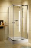 Radaway Classic C Kabina prysznicowa kwadratowa z drzwiami przesuwnymi 80x80 szkło grafitowe profile białe 30060-04-05