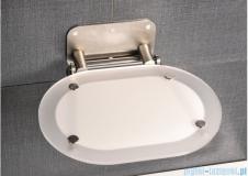 Ravak Siedzisko Ovo chrome Clear nierdzewne do kabin prysznicowych B8F0000029