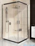 Ravak Blix BLRV2K drzwi prysznicowe 1/2 80cm aluminium grape Anticalc 1XV40C00ZG