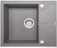 Deante Andante zlewozmywak 1-komorowy z krótkim ociekaczem 59x49 cm Szary metalik ZQN S11A