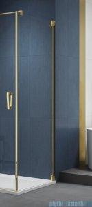 SanSwiss Cadura Gold Line ścianka boczna 100x200cm profile złote CAT11001207