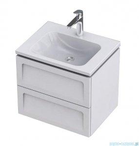 Oristo Beryl Uni szafka z umywalką 60x50x46cm biały mat OR44-SD2S-60-2-V3/UME-CE-60-91