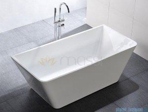 Massi Simple 150 wanna wolnostojąca prostokątna 150x75cm biała + syfon MSWA819150