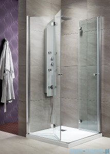 Radaway Eos KDD-B kabina prysznicowa 100x90 szkło przejrzyste + brodzik Doros D + syfon 37353-01-01N