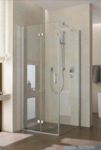 Kermi Diga Drzwi wahadłowo-składane do ściany bocznej, lewe, szkło przezroczyste, profile białe 80x200 DI2SL080202AK