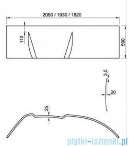 Ravak Panel do wanny Asymmetric 160 L CZ46100000