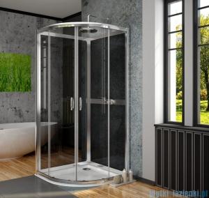 Radaway Premium Plus A+2S kabina czterościenna półokrągła 80x80 szkło przejrzyste/grafit 30413-01-01N/33443-01-05N