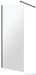 Omnires Marina Kabina prysznicowa typu walk-in 80x200 cm przejrzyste profil czarny DNR80XBLTR